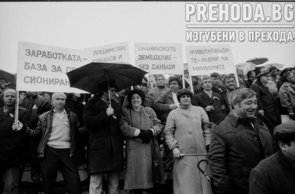 Митинг за реформи в селското стопанство в село Войводино, Пловдивско