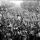 Големият предизборен митинг на СДС - Орлов мост