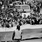 Студентско шествие против правителството на Луканов