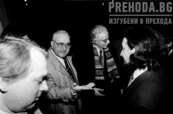 Български писатели се срещат с Любчо Георгиевски и  други македонски лидери.