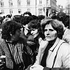 Протест на майки на сини каски в парламента