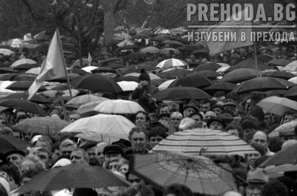 Митинг на СДС за предсрочни избори