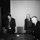 Президентът Жельо Желев се среща с лидери на СДС и Демократическата партия