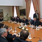 Президентът Георги Първанов се среща с експерти по повод предстоящото приемане на бюджета